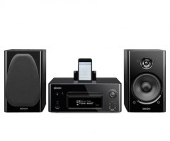 Denon Mini System CEOL Black Front iPod