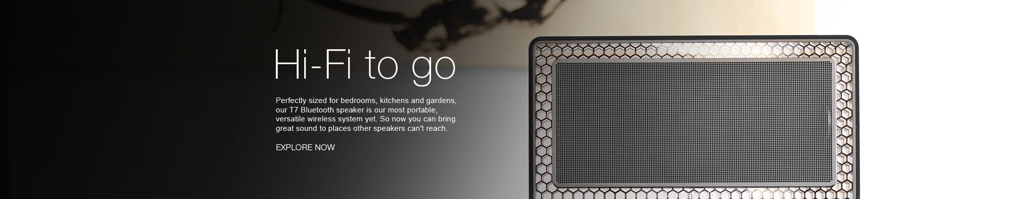 Bowers & Wilkins Bluetooth Speaker T7 Homepage-Banner