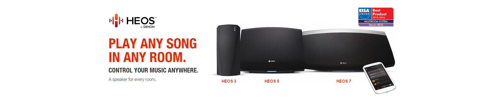 Play Any Song | HEOS by Denon | Wireless Multi-Room Speaker System