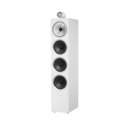 Bowers & Wilkins | Floorstanding Speaker – 702 S2 White Grille Off